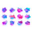 set fluid organic colorful shapes vector image