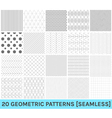 Set of 20 abstract geometric blue patterns2 vector image vector image