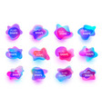 set of fluid organic colorful shapes vector image