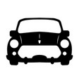 silhouette of car front view vector image vector image
