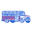 ski shuttle bus icon vector image vector image