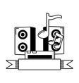 sound speaker music vector image vector image
