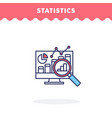 statistic icon fill and line flat design vector image