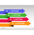 Template with arrows and four options vector image vector image