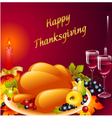 thanksgiving background with turkey vector image vector image
