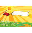 The white banner vector image vector image