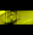 triangle shapes geometric abstract background 3d vector image vector image