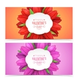 Tulip flowers and text vector image vector image