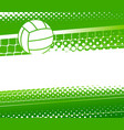 volleyball background vector image vector image