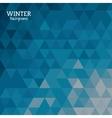Winter background design vector image