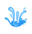 water wave blue symbol in form of splashes wavy vector image