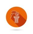 Basketball icon Basket with ball sign vector image
