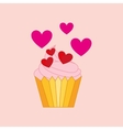 heart cartoon sweet pink cream icon design vector image