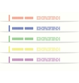 Bookmarks for infographic or web sites vector image