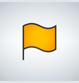 simple of yellow flag on white vector image