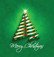 abstract christmas tree background 0312 vector image vector image