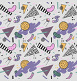 abstract trendy memphis seamless pattern vector image vector image