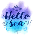 Abstract watercolor marine background vector image vector image