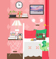 adult female living room interior flat vector image vector image