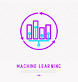 ai or machine learning by analysis big data vector image