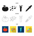 and logo set of and ve vector image vector image
