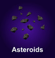 asteroids icon isometric style vector image vector image
