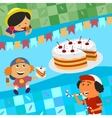 Birthday and sweets vector image vector image