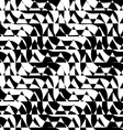 Black and white alternating diagonal ways triangle vector image vector image