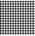 black and white gingham tablecloth seamless patter vector image vector image