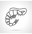 Black line icon for shrimp vector image vector image
