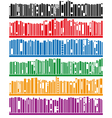 books on bookshelf vector image vector image