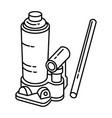 bottle jack icon doodle hand drawn or outline vector image