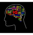 Brain profile image vector image