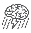 brainstorm line icon development and business vector image