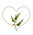 Branch of Pistachio Nuts in A Heart Shape vector image vector image