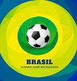 brasil soocer game vector image vector image