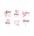 breast cancer logo templates design hope faith vector image vector image