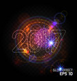 bright abstract design vector image