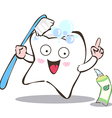 brush the teeth vector image vector image
