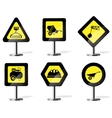 Building equipment on the road sign vector image vector image