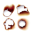 burning sheets of paper or scrolls in fire vector image vector image