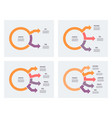 business infographic circular chart with 2 3 4 vector image vector image