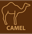 camel icon in linear style vector image vector image