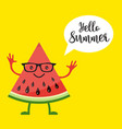 card with funny watermelon vector image