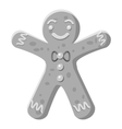 Christmas cookie icon gray monochrome style vector image vector image