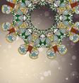 Circle mandala lace hand-drawn kaleidoscope vector image vector image