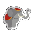 circus elephant isolated icon vector image vector image