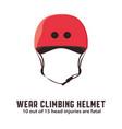 climbing helmet mountaineering safety equipment vector image vector image