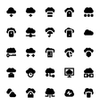 Cloud Data Technology Icons 1 vector image vector image
