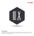 comb and scissors icon hexa white background icon vector image